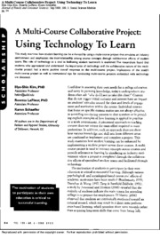 Using Technology to Learn
