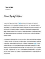 Filipino_ Tagalog_ Pilipino_ What's the difference_