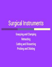 Surgical Instruments pdf - Surgical Instruments Grasping and