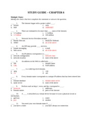 Computer Science STUDY GUIDE 6