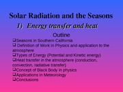 Solar Radiation and the Seasons_2011v2
