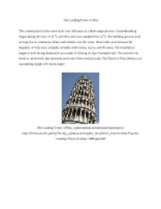 Project 1 - Tower of Pisa