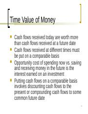 Lecture - Time Value of Money BH