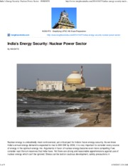 India's Energy Security_ Nuclear Power Sector - INSIGHTS