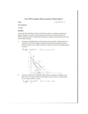 ECON 290 Fall 2011 Quiz 3 Solutions