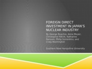 Foreign Direct Investment in Japan's Nuclear Industry