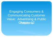 Chapter 12 Promotion-Advertising & Public Relations
