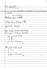 RC CIRCUIT NOTES