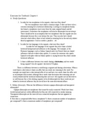 Exercises for Textbook Chapter 4&5