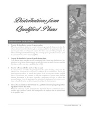 chapter 7 distributions form qualified plans