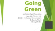 ENG315 Assignment 3 Going Green