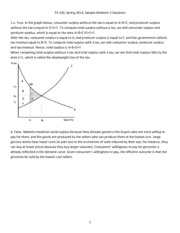 Introduction to Economics Sample Midterm 2 Solutions