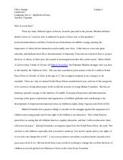 application essay Who is a Hero Chloe Zuniga grade 12.docx
