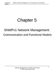 Network Management Chapter 5