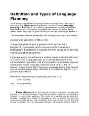Definition and Types of Language Planning.docx