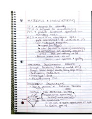INDS330 MaterialsMaufacturing Development Process Notes