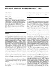Physiological Mechanisms in Coping with Climate Change.pdf