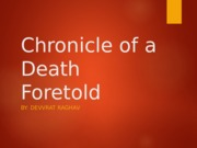 Chronicle of a Death Foretold - Chapter 1