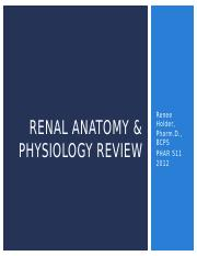PHAR 511 - Day 1 - D - Renal Review