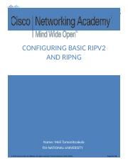 3.2.1.9 lab - Configuring Basic RIPv2 and RIPng (2).docx