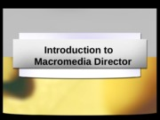 Introduction to Macromedia Director