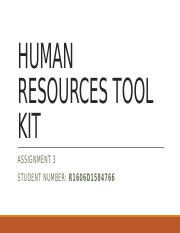 ASSIGNMENT 3_HUMAN RESOURCES TOOL KIT