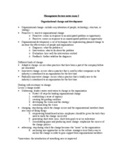 management test 3 lecture study guide