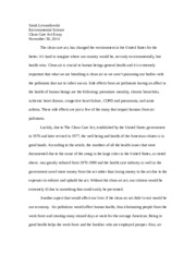 clean care act essay