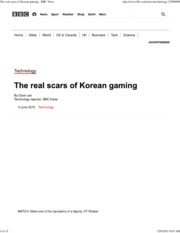 Lee, The real scars of Korean gaming