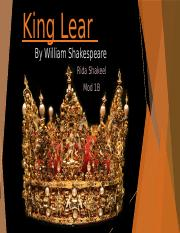 King Lear bolded