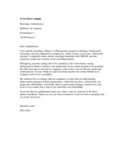 Mc. Cover letter sample
