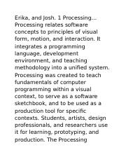 Processing Processing (Page 33-34)