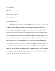 Animal Farm-Journal 4