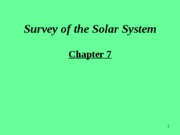 Chapter7.Survey of the Solar System