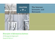 ch07 The Internet, Intranets and Extranets