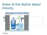 State of the Bottle Water Industy