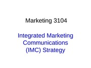 F10+Marketing+3104+Student+18.+Integrated+Communications+Part+1+ppt