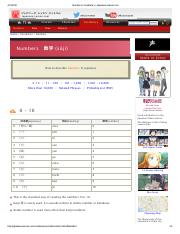 Numbers _ Vocabulary _ Japanese-Lesson