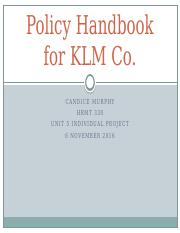 Policy Handbook for KLM Co (P5 IP).pptx