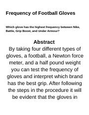 Frequency of Football Gloves.docx