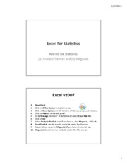GC1055 0.5 Excel Add-ins for Statistics