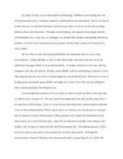 Business advertising essay