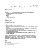 Chapter 12: Union and Employee Study Guide