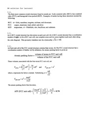 Homework B Solutions on Mechanical Properties of Structural Materials