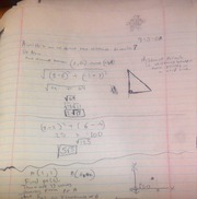 Calc A Notes on Calculating Distance Formula