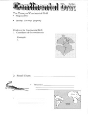 Continental Drift Worksheet