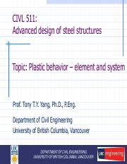 CIVL 511LN (3) - Plastic behavior - element and system.pdf