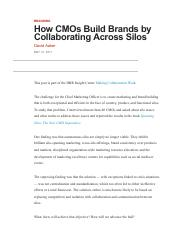How CMOs Build Brands by Collaborating Across Silos.pdf