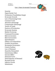 Key Terms Economicsdoc