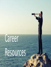 5 Career Resources